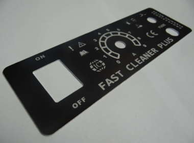 Panel aluminium czarna anodowany + grawer laserowy