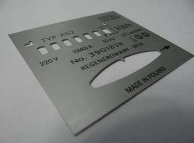 Tabliczki na liczniki aluminium